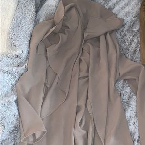 Nude business trench coat